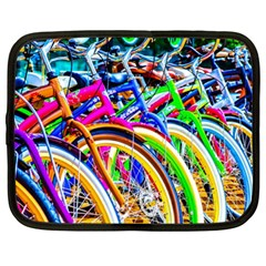 Colorful Bicycles In A Row Netbook Case (xl)