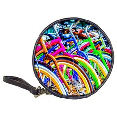 Colorful Bicycles In A Row Classic 20 Cd Wallets