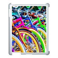 Colorful Bicycles In A Row Apple Ipad 3/4 Case (white) by FunnyCow