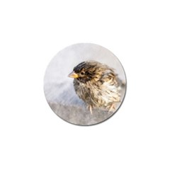 Funny Wet Sparrow Bird Golf Ball Marker (4 Pack) by FunnyCow