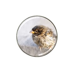 Funny Wet Sparrow Bird Hat Clip Ball Marker by FunnyCow