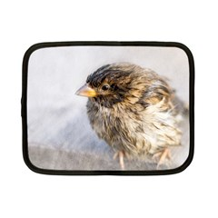 Funny Wet Sparrow Bird Netbook Case (small)  by FunnyCow