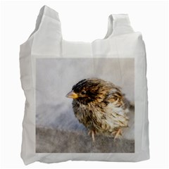 Funny Wet Sparrow Bird Recycle Bag (one Side)