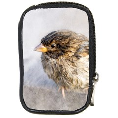 Funny Wet Sparrow Bird Compact Camera Cases by FunnyCow