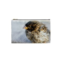 Funny Wet Sparrow Bird Cosmetic Bag (small)