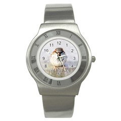 Do Not Mess With Sparrows Stainless Steel Watch