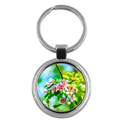 Crab Apple Flowers Key Chains (round)