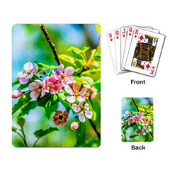 Crab Apple Flowers Playing Card