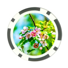 Crab Apple Flowers Poker Chip Card Guard