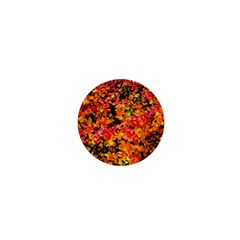 Orange, Yellow Cotoneaster Leaves In Autumn 1  Mini Buttons