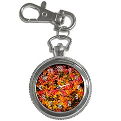 Orange, Yellow Cotoneaster Leaves In Autumn Key Chain Watches