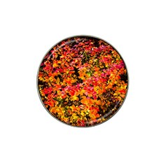 Orange, Yellow Cotoneaster Leaves In Autumn Hat Clip Ball Marker by FunnyCow