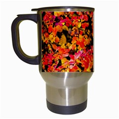 Orange, Yellow Cotoneaster Leaves In Autumn Travel Mugs (white) by FunnyCow