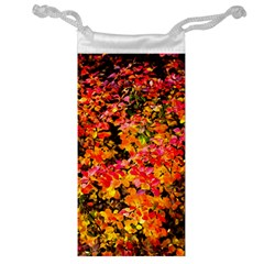 Orange, Yellow Cotoneaster Leaves In Autumn Jewelry Bags by FunnyCow