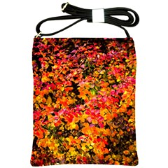 Orange, Yellow Cotoneaster Leaves In Autumn Shoulder Sling Bags