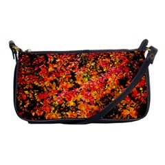 Orange, Yellow Cotoneaster Leaves In Autumn Shoulder Clutch Bags by FunnyCow