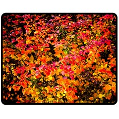 Orange, Yellow Cotoneaster Leaves In Autumn Fleece Blanket (medium)  by FunnyCow