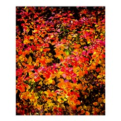 Orange, Yellow Cotoneaster Leaves In Autumn Shower Curtain 60  X 72  (medium)  by FunnyCow
