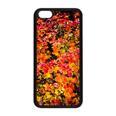 Orange, Yellow Cotoneaster Leaves In Autumn Apple Iphone 5c Seamless Case (black) by FunnyCow