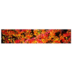 Orange, Yellow Cotoneaster Leaves In Autumn Small Flano Scarf