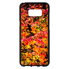 Orange, Yellow Cotoneaster Leaves In Autumn Samsung Galaxy S8 Plus Black Seamless Case
