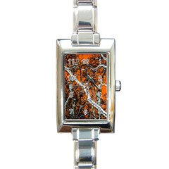 Red Night Of Winter Rectangle Italian Charm Watch