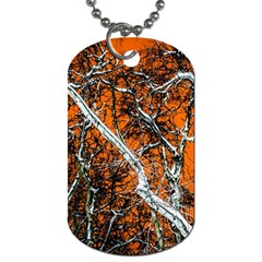 Red Night Of Winter Dog Tag (two Sides)