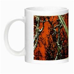 Red Night Of Winter Night Luminous Mugs