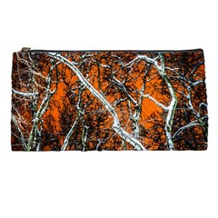 Red Night Of Winter Pencil Cases by FunnyCow