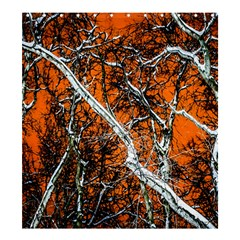 Red Night Of Winter Shower Curtain 66  X 72  (large)  by FunnyCow