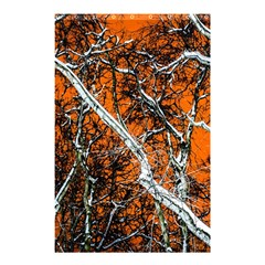 Red Night Of Winter Shower Curtain 48  X 72  (small)  by FunnyCow