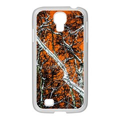 Red Night Of Winter Samsung Galaxy S4 I9500/ I9505 Case (white) by FunnyCow
