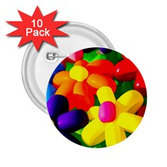 Toy Balloon Flowers 2 25  Buttons (10 Pack)  by FunnyCow