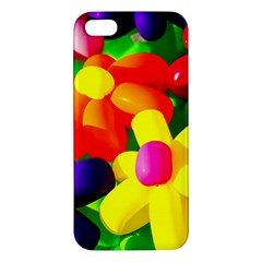 Toy Balloon Flowers Apple Iphone 5 Premium Hardshell Case by FunnyCow