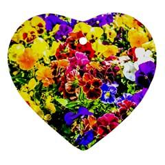 Viola Tricolor Flowers Ornament (heart)