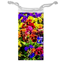 Viola Tricolor Flowers Jewelry Bags