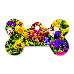 Viola Tricolor Flowers Dog Tag Bone (two Sides) by FunnyCow