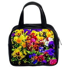 Viola Tricolor Flowers Classic Handbags (2 Sides) by FunnyCow