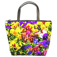 Viola Tricolor Flowers Bucket Bags by FunnyCow