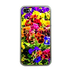 Viola Tricolor Flowers Apple Iphone 4 Case (clear) by FunnyCow