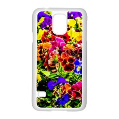 Viola Tricolor Flowers Samsung Galaxy S5 Case (white) by FunnyCow