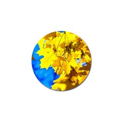 Yellow Maple Leaves Golf Ball Marker