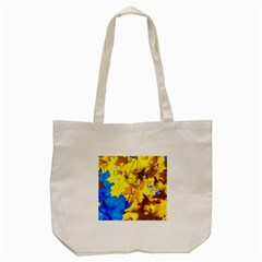 Yellow Maple Leaves Tote Bag (cream) by FunnyCow