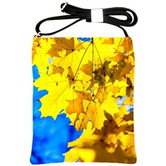 Yellow Maple Leaves Shoulder Sling Bags