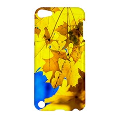 Yellow Maple Leaves Apple Ipod Touch 5 Hardshell Case by FunnyCow