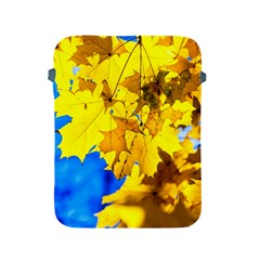 Yellow Maple Leaves Apple Ipad 2/3/4 Protective Soft Cases by FunnyCow