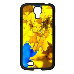 Yellow Maple Leaves Samsung Galaxy S4 I9500/ I9505 Case (black) by FunnyCow