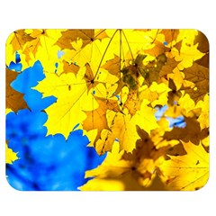 Yellow Maple Leaves Double Sided Flano Blanket (medium)  by FunnyCow