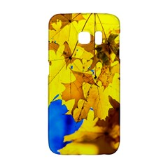 Yellow Maple Leaves Samsung Galaxy S6 Edge Hardshell Case by FunnyCow