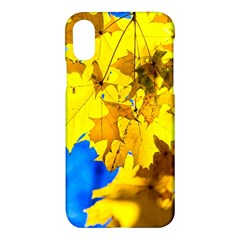 Yellow Maple Leaves Apple Iphone X Hardshell Case
